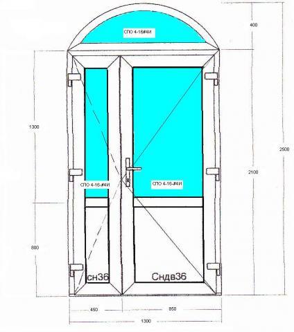 входные арочные двери из пвх